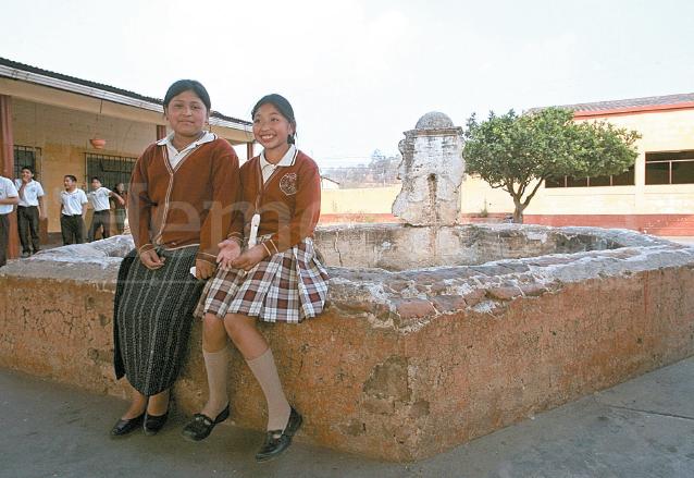 Pileta colonial en el colegio la Amistad. (Foto: Hemeroteca PL)