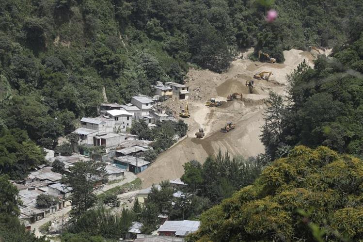 El Cambray 2, lugar donde ocurrió un deslizamiento que soterró a unas 300 personas. (Foto Prensa Libre: Hemeroteca PL)