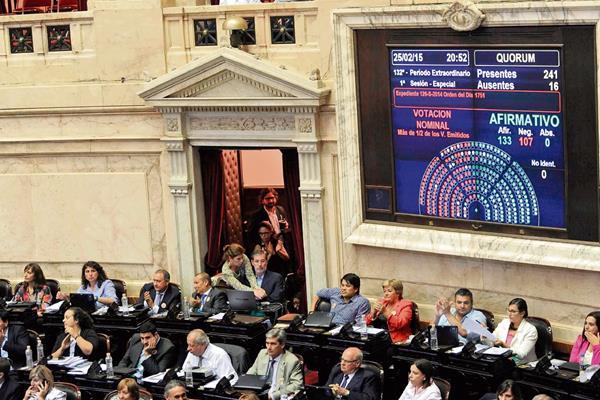 El Congreso  de Argentina aprobó en una maratónica sesión, la creación de una nueva agencia de inteligencia.AFP