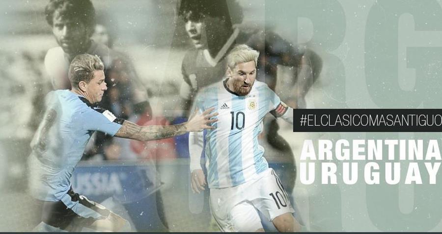 Argentina enfrenta a Uruguay en la clasificación rumbo a Rusia 2018. (Foto Prensa Libre)
