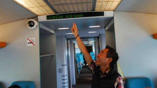 El tren puede alcanzar velocidades de 430 km/h. (LARRY BLEIBERG)
