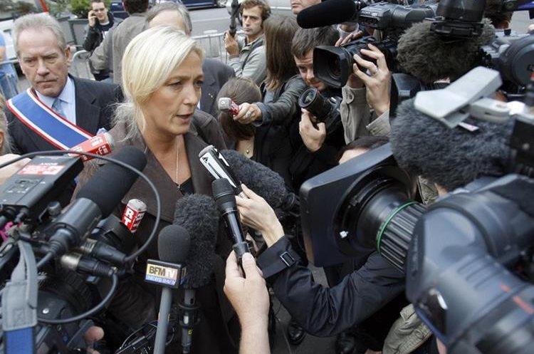 Marine Le Pen, líder del partido ultraderecha de Francia. (AP)