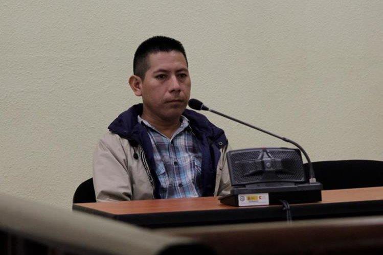 Miguel Angel Chim Joj, fue condenado a diez años de prisión por portación ilegal de un arma hechiza. (Foto Prensa Libre: María Longo)