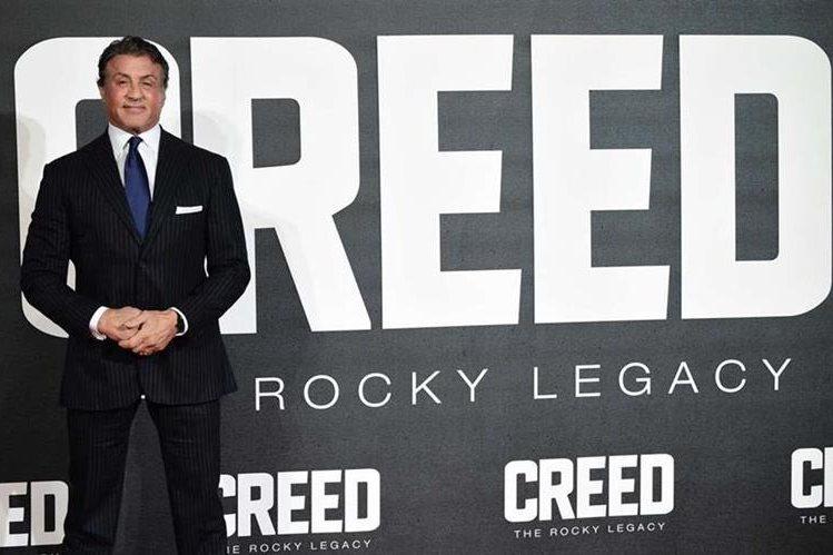 Sylvester Stallone obtuvo un Globo de Oro como mejor actor de reparto por su trabajo en la película Creed. (Foto Prensa Libre: AFP)