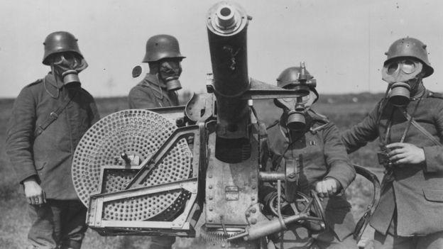 El uso de gas de cloro, desarrollado por Haber, fue devastador durante la Primera Guerra Mundial. GETTY IMAGES