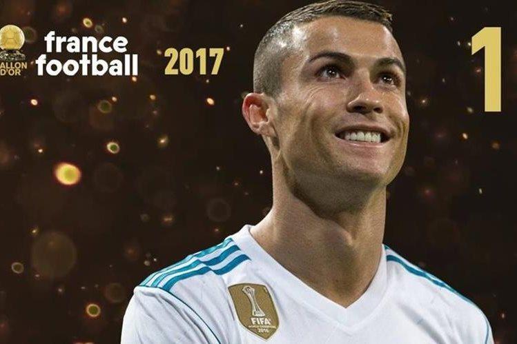 Cristiano Ronaldo ganó su quinto Balón de Oro. (Foto Prensa Libre: Twitter @francefootball)