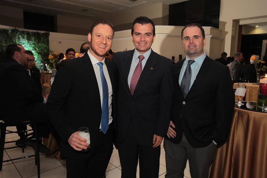 Andrés Castillo, Fernando Verdugo y Patrick Heinimann. (Foto Prensa Libre: Edwin Castro)