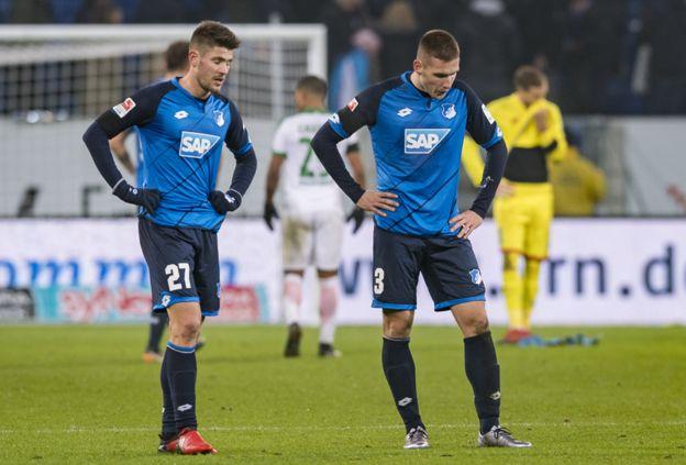 El mayor problema para el Hoffenheim es la cantidad de goles que ha recibido en los últimos minutos de los partidos. (Getty Images)