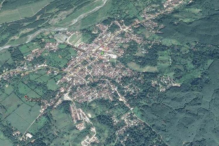 Mapa de Patulul, Suchitepéquez, donde un ayudante de autobús resultó herido a balazos. (Foto Prensa Libre: Google Earth)