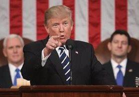 Trump ofrece su primer discurso en una sesión conjunta del Congreso de EE.UU. (EFE).