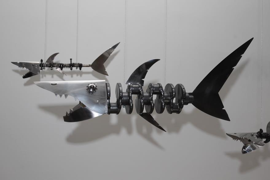 Las piezas simbolizan especies marinas. (Foto Prensa Libre: Edwin Castro).