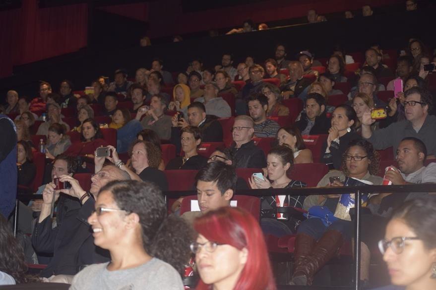 La sala donde se exhibió Ixcanul se abarrotó durante el AFI. (Foto Prensa Libre: Maynor Ventura)