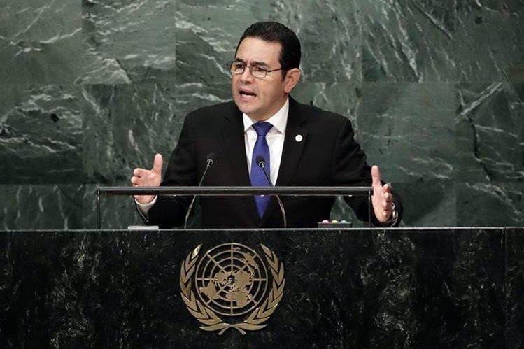 El presidente Jimmy Morales, participara en la Asamblea General de la Organización de Naciones Unidas, que se realizará en Nueva York. (Foto Prensa Libre: Hemeroteca PL)