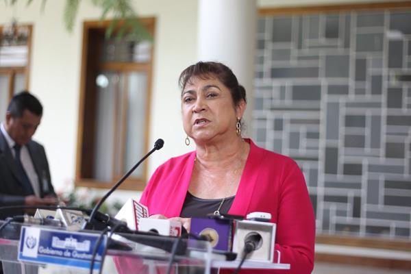 """La Primera Dama, Rosa Leal de Pérez, hizo un llamado a la población para que """"no sean alarmistas"""". (Foto Prensa Libre: Hemeroteca PL)"""
