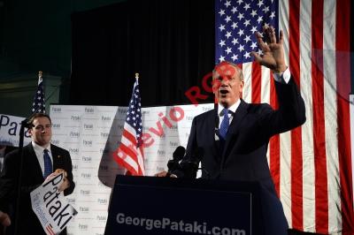 El exgobernador de Nueva York George Pataki anuncia su candidatura a la nominación presidencial republicana 2016. (Foto Prensa Libre:AP)AP