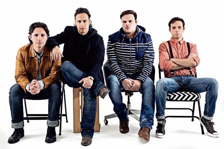 Raúl Ortiz, Alejandro Puga, Ricardo y Raulito Fuentespresentan una propuesta con matices más roqueros.(Foto Prensa Libre. Cortesía El Tambor de la Tribu)