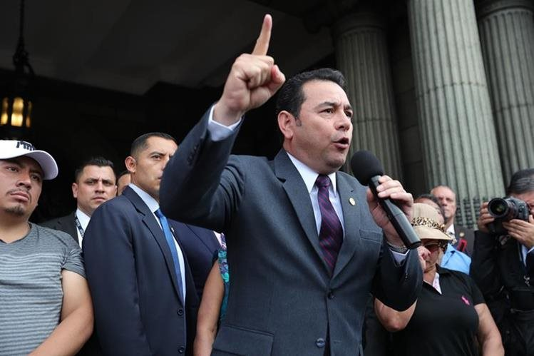 El MP presentó un amparo ante la CC para revocar la decisión de la CSJ de rechazar una petición de antejuicio contra el presidente Jimmy Morales. (Foto Prensa Libre: Hemeroteca PL)<br /> <br />