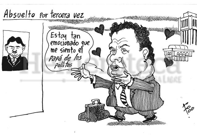 Fo satirizó la relación de Moreno con el ex presidente Alfonso Portillo. Publicado el 21 de enero de 2000. (Foto: Hemeroteca PL)