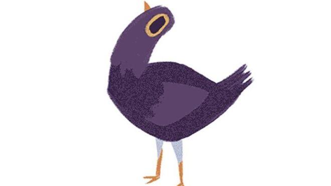 El ave púrpura fue creada en 2016, pero su popularidad en todo el mundo aumentó luego de su publicación en Asia. (FACEBOOK/SYD WEILER)