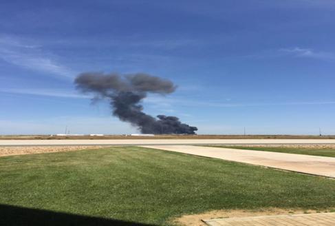 Avión militar se accidenta en España.