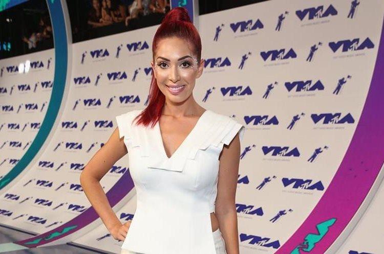 Farrah Abraham, protagonista del reality show Tee Mom, llegó a la gala de los MTV Video Music Awards. (Foto Prensa Libre: Phillip Faraone/AFP).