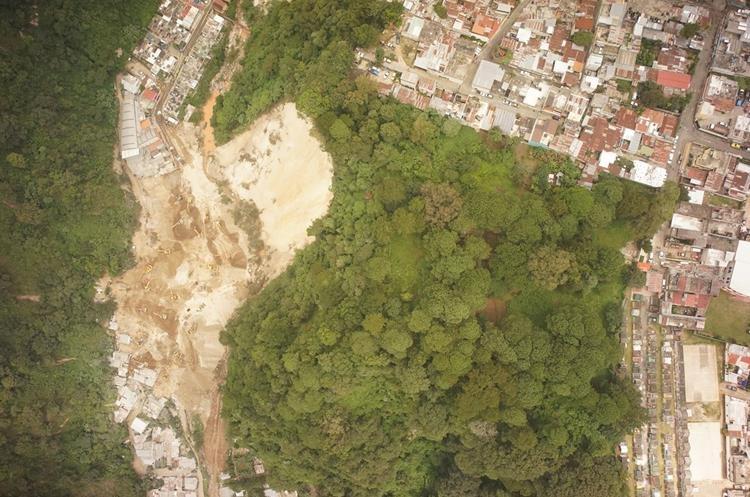 Imagen capturada con el dron Trimble UX5 en El Cambray 2 (Foto Prensa Libre: Netcore Technologies)