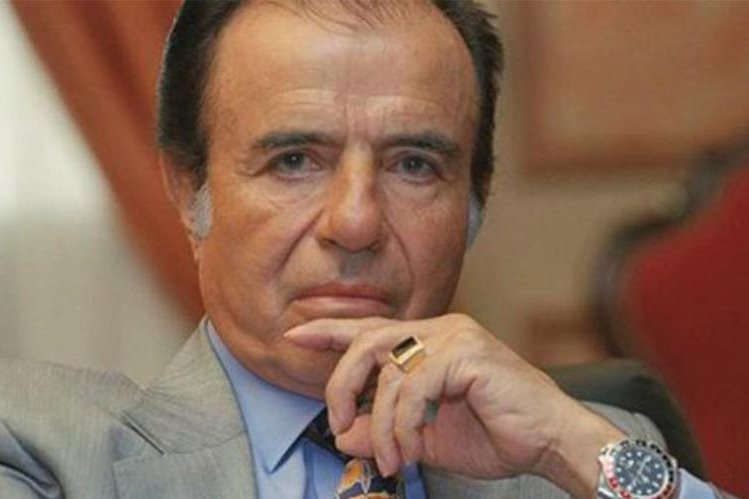 Carlos Menem, expresidente argentino.