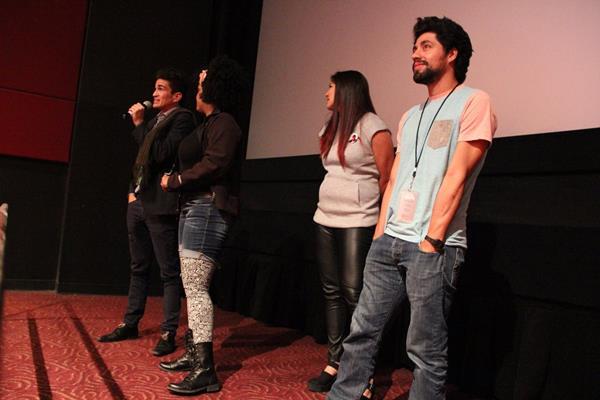 El elenco durante la presentación de la película en Chicago. (Foto Prensa Libre: Cortesía BPS)
