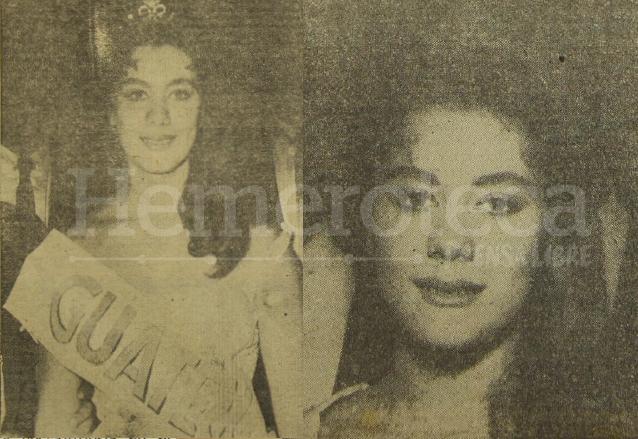 Rogelia Cruz Martínez durante su faceta como Miss Guatemala 1959. (Foto: Hemeroteca PL)