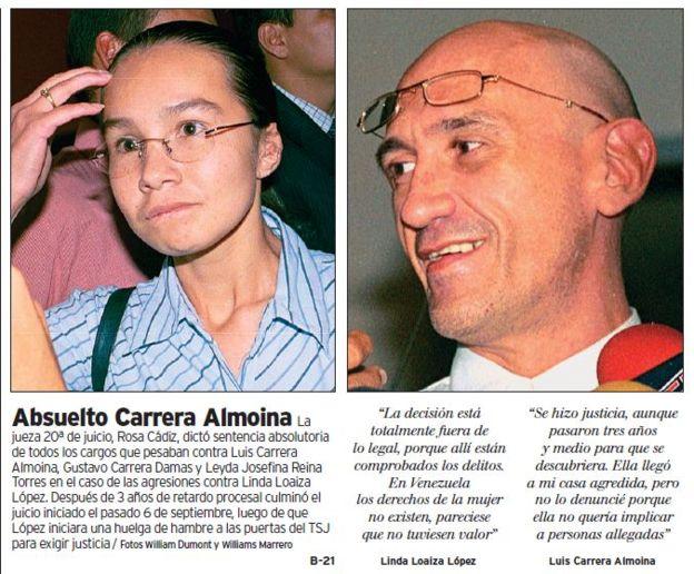 Carrera Almoina fue absuelto en 2004 y en un segundo juicio lo sentenciaron a 6 años de cárcel (Foto: Archivo El Nacional)