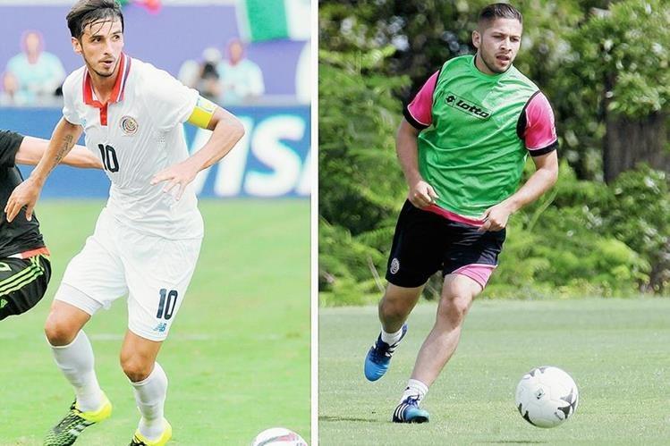 Bryan Ruiz y Elías Aguilar serán dos piezas claves para Wanchope en la Copa Oro. (Foto Prensa Libre: EFE)