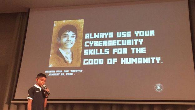 """""""Usa siempre tus habilidades en ciberseguridad para el bien de la humanidad"""", es el lema de Reuben. (REUBEN PAUL/TWITTER)"""