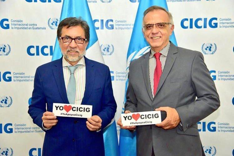 Estados Unidos, por medio de su embajador Luis Arreaga (izquierda), le ha manifestado su apoyo a la Cicig y a su comisionado, Iván Velásquez. (Foto: Hemeroteca PL)