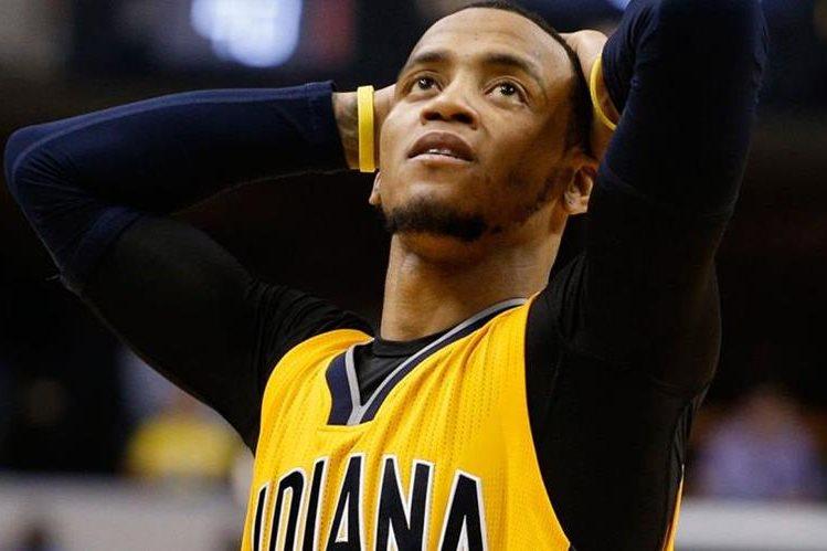 Monta Ellis de los Pacers de Indiana fue suspendido cinco juegos por dopaje. (Foto Prensa Libre: Twitter)