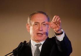 Benjamin Netanyahu declara que Israel rechaza la resolución de la ONU. (Foto Prensa Libre:AFP).