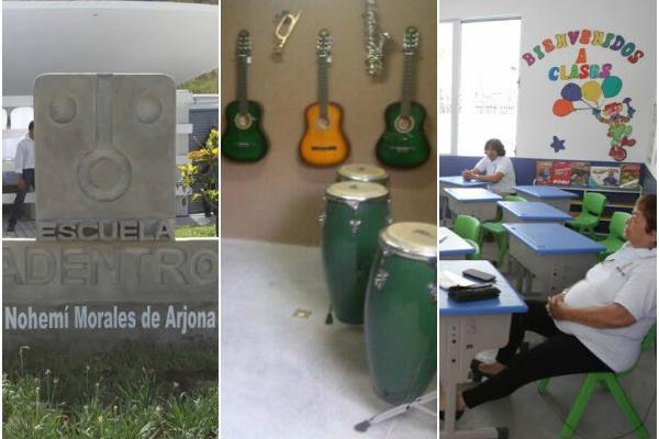 <p>Escuela de la fundación Adentro. (Foto Prensa Libre: Erick Ávila y Keneth Cruz)</p>