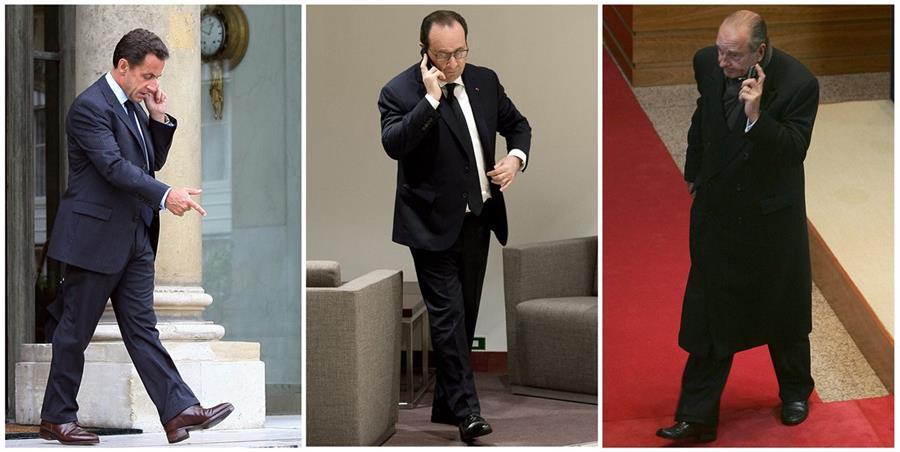 <em>Los presidentes de Francia: Nicolas Sarkozy, Francois Hollande y Jacques Chirac, espiados por Estados Unidos, según revelaciones de Wikileaks. (Foto Prensa Libre: AFP).</em>