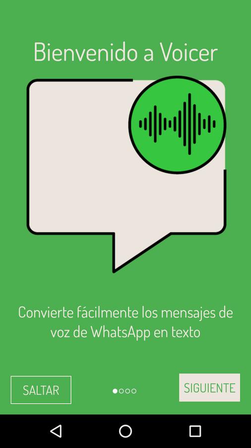 Voicer for WhatsApp permite a los usuarios transcibir las notas de voz para no escucharlas. (Foto prensa Libre: Google Play).
