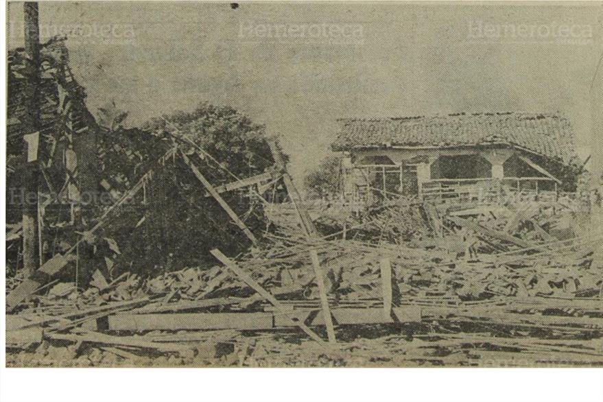Escombros de una pensión nicaragüense. (Foto: Hemeroteca PL)