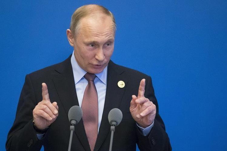 Putin ahonda polémica sobre información revelada por Trump. (Foto Prensa Libre: EFE)