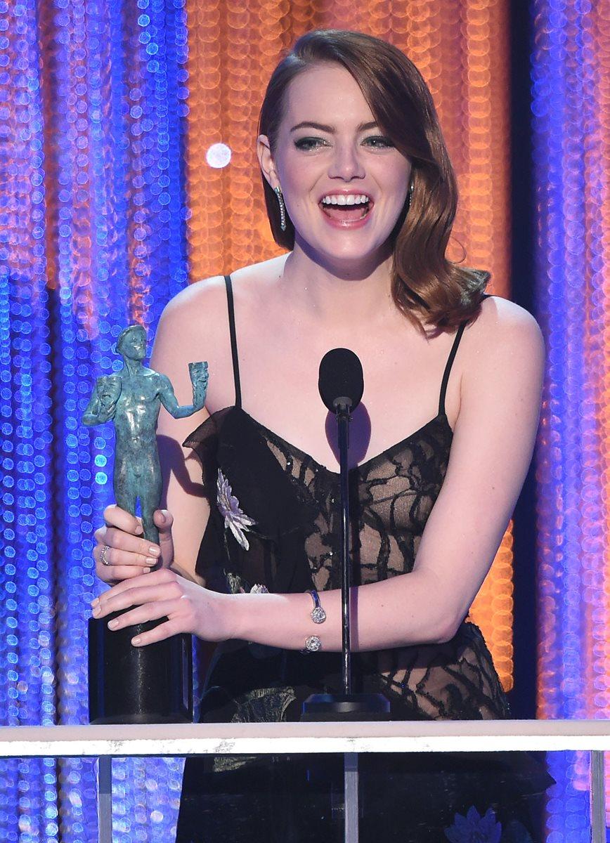 Emma Stone gana como mejor actriz en los SAG.