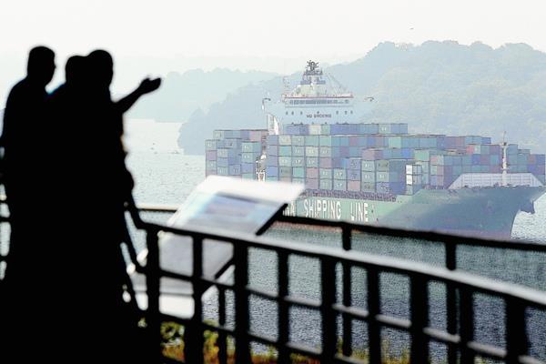 Vista general  del lago Gatún, contiguo a los trabajos de ampliación del Canal de Panamá. (Foto Prensa libre:Hemeroteca PL)