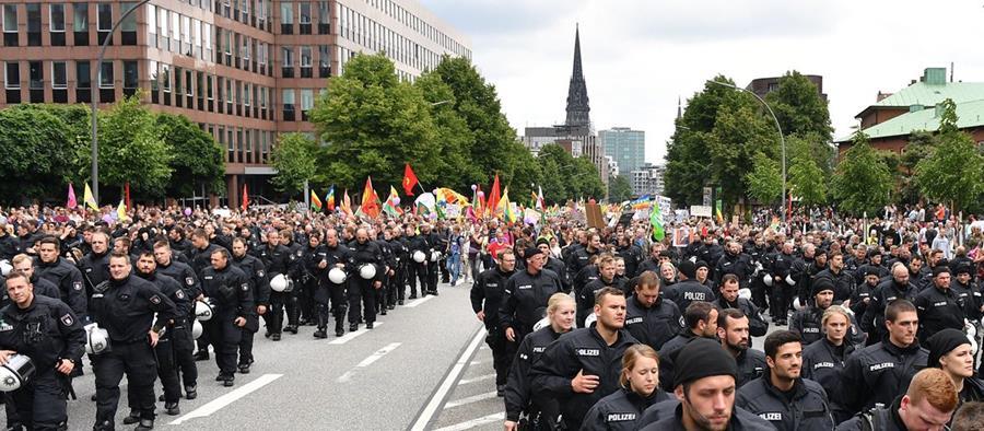 Inédita seguridad en cumbre alemana. (Foto Prensa Libre: EEF)
