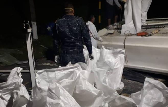 La cocaína está valorada en varios millones de quetzales. (Foto Prensa Libre: PNC).