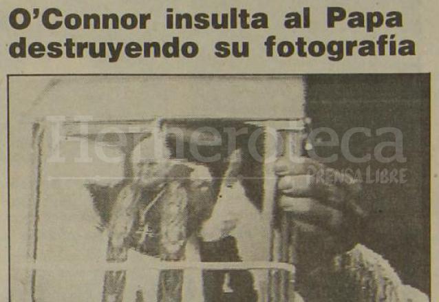 Nota informando sobre el incidente de Sinead O'Connor en 1992. (Foto: Hemeroteca PL)