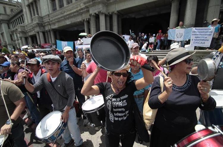En Guatemala se han dado múltiples protestas en favor de la Cicig. (Foto Prensa Libre: Hemeroteca PL).