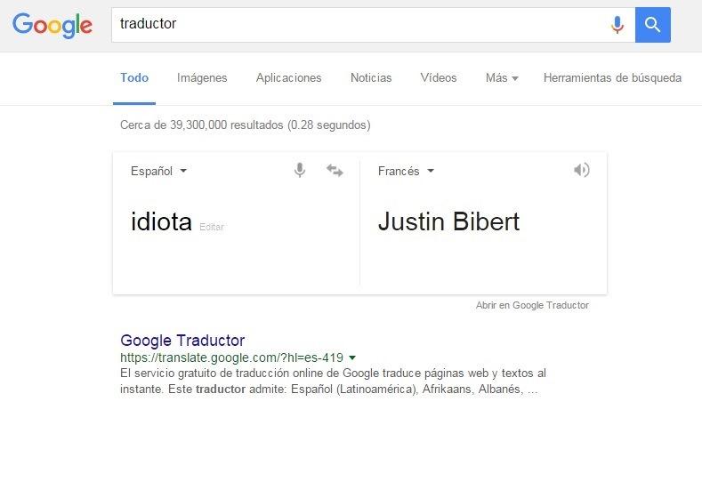 """Esta es la evidencia de que """"idiota"""" es traducido como """"Justin Bibert"""". (Foto Prensa Libre: Hemeroteca PL)"""