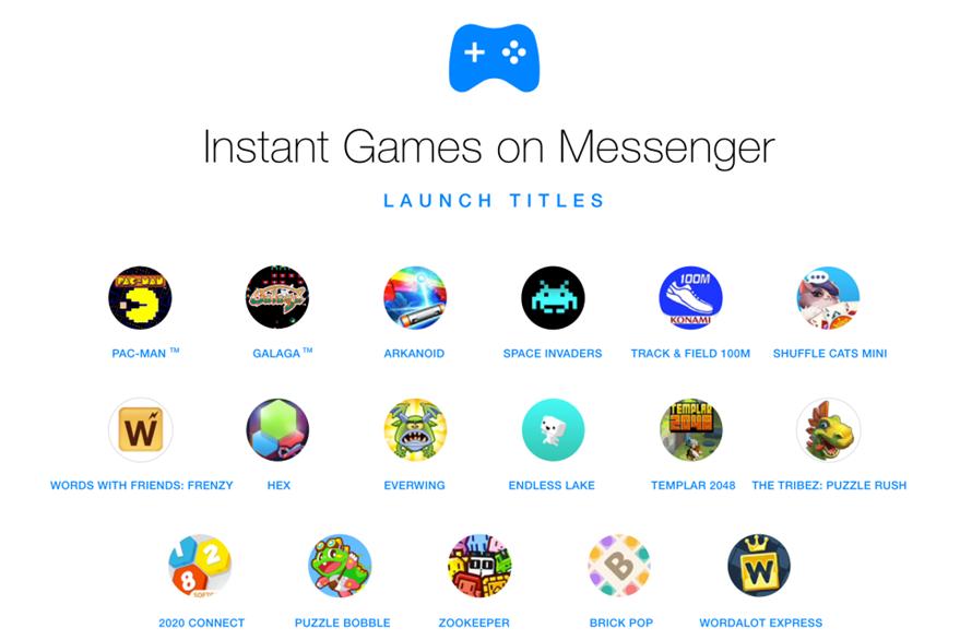 Estos son algunos de los juegos para disfrutar en los chats de Messenger. (Foto Prensa Libre: Facebook).