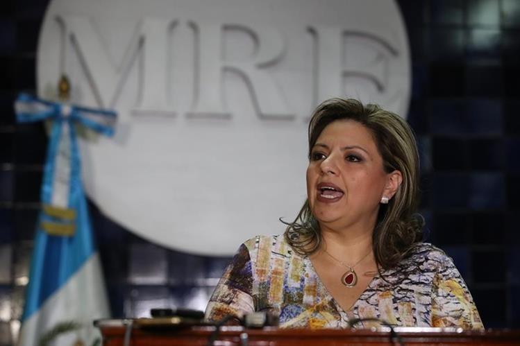 El Ministerio de Relaciones Exteriores a cargo de Sandra Jovel no revela los detalles completos del viaje a Israel. (Foto Prensa Libre: Hemeroteca PL)<br />