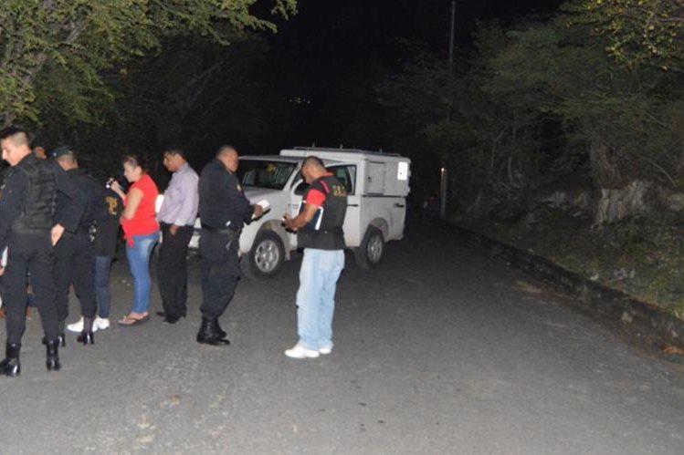Lugar donde murió baleado Byron Francisco García, en Zacapa. (Foto Prensa Libre: Víctor Gómez)